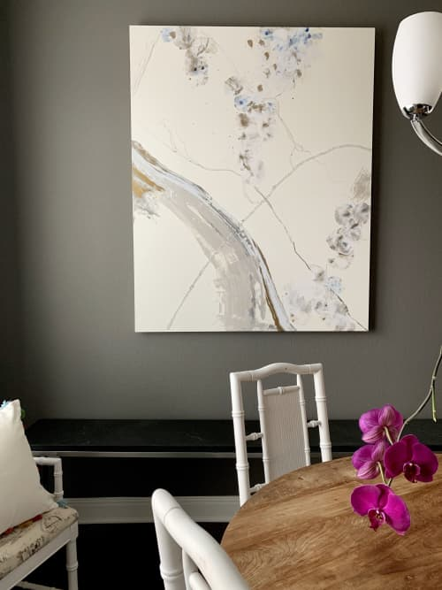 Paintings by Maria Martin seen at Private Residence, Austin - Grey and White Sparkle