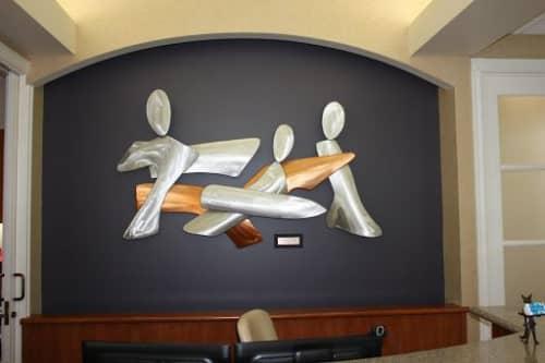 Sculptures by Richard Warrington seen at Harken Dental, Spokane Valley - Action People
