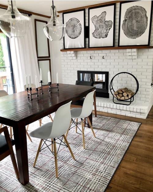 Set Of 3 Tree Ring Prints | Art & Wall Decor by Erik Linton | Kate Chipinski's Home in Minneapolis