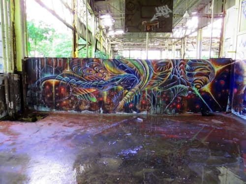 Street Murals by Max Ehrman (Eon75) seen at Puerto Rico - Times of Change are Coming