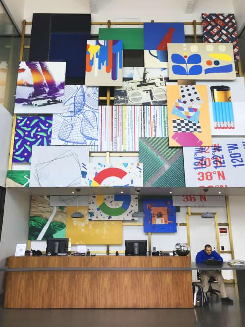 Paintings by ANTLRE - Hannah Sitzer seen at Google RWC SEA6, Redwood City - Lobby Art