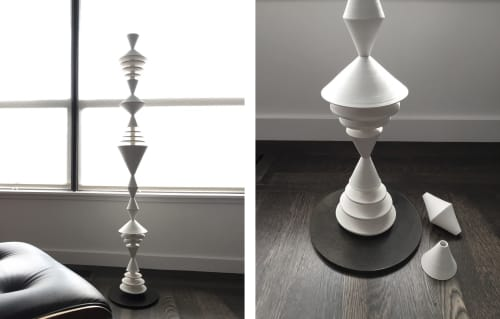White Totem Sculpture | Sculptures by Zuzana Licko