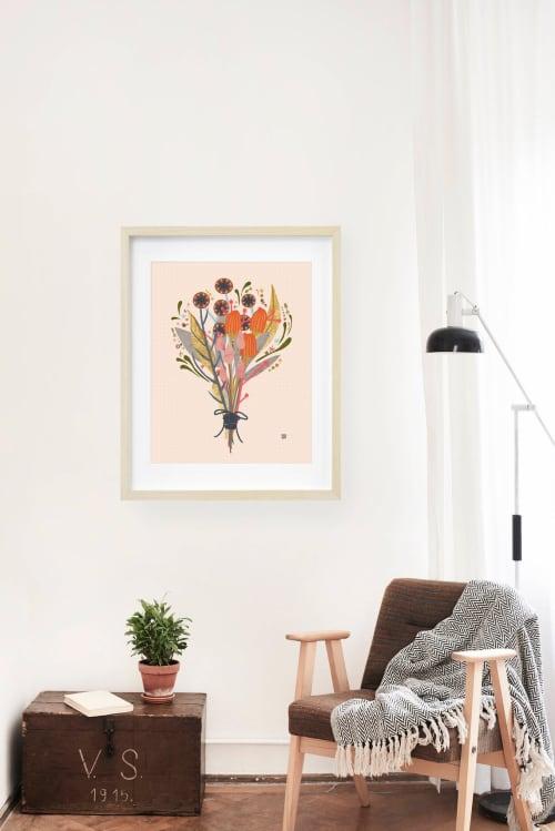 Paintings by Birdsong Prints seen at Creator's Studio, Denver - Wildflower Art Print