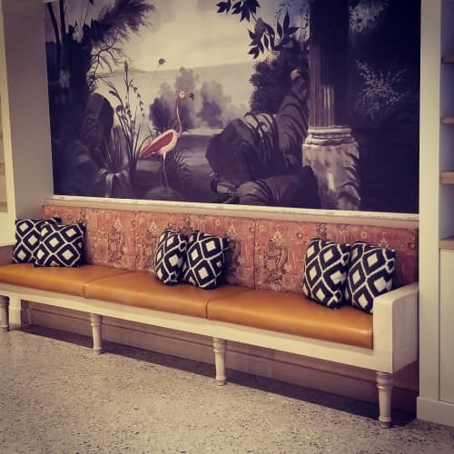 Benches & Ottomans by Build a Booth seen at The Pharm Drugstore + Compounding Pharmacy, Calgary - Custom Bench