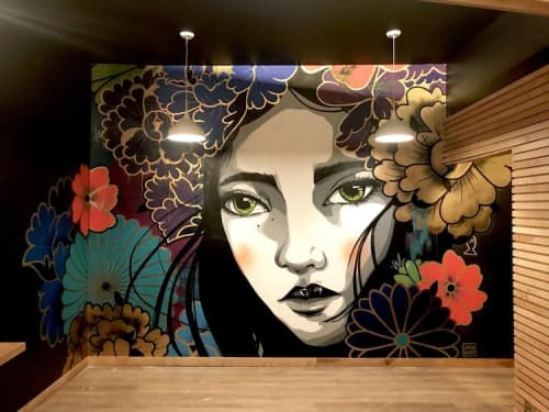 Murals by Emma Daisy at Merge, Milwaukee - EYES OPEN