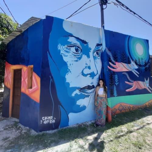 Murals by China del Rio seen at Formosa, Formosa - Mujer Buen Vivir
