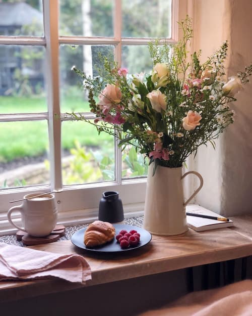Cups by Illyria Pottery Katie Coston seen at Private Residence, Cambridge - White Ceramic Mug