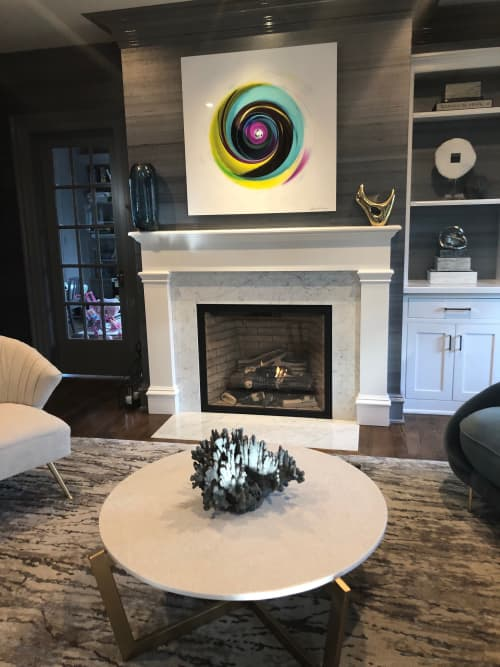Photography by Joanie Landau seen at Private Residence, New Canaan - Spin Me 'Round Multi Color