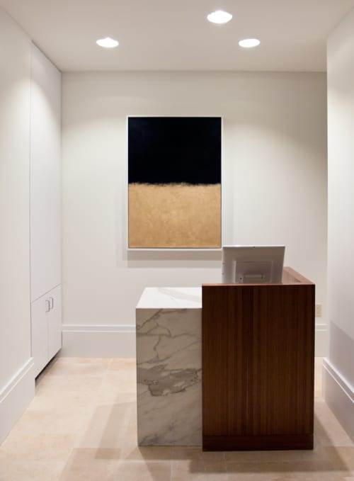 Art & Wall Decor by Matthew Thomas seen at Club Quarters Hotel in Houston, Houston - Navy & Gold, 2015