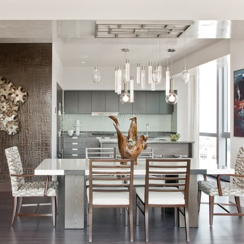Pendants by ILEX Architectural Lighting seen at Private Residence, Boston - Glass Pendants
