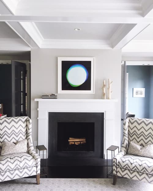 Wall Hangings by Liz Nielsen seen at Private Residence, Charlotte - Moon photograph