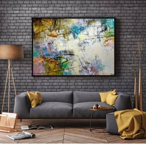 """Paintings by Jeanette Goulart seen at Private Residence, Clovis - """"My world is really nuthin' without you in it"""" Painting"""