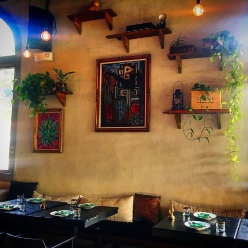 Paintings by Franky Castle Art at El Mercado Modern Cuisine, Santa Ana - Urban artwork