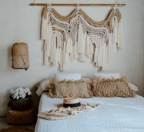 Natural Organic Macrame Headboard | Macrame Wall Hanging by Ranran Design by Belen Senra