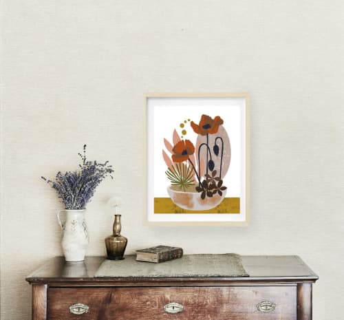 Paintings by Birdsong Prints - Poppies Print