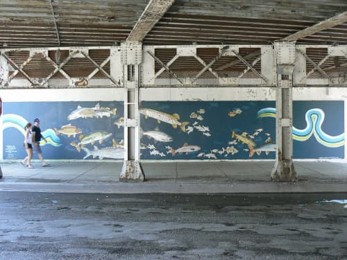 Street Murals by Amanda Paulson seen at Rogers Park, Chicago - Tribute to the Fish of Lake Michigan
