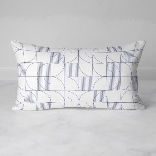 Pillows by Michael Grace & Co seen at Creator's Studio, Seattle - Geometric Harvest Rectangular Throw Pillow