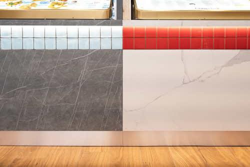 Tiles by Caesarstone Australia seen at Gong Cha Parramatta, Parramatta - Tiles