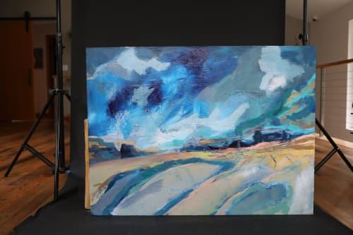 Paintings by Inese Westcott seen at Creator's Studio, Bellevue - Fields