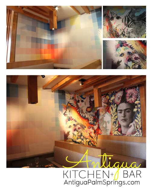 Murals by John Cuevas seen at Antigua Kitchen + Bar Palm Springs, Palm Springs - Frida Fire