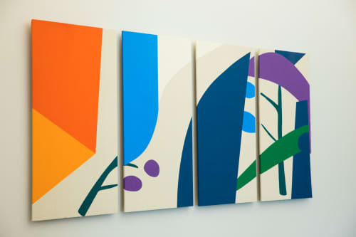 """Paintings by ANTLRE - Hannah Sitzer seen at Google RWC SEA6, Redwood City - """"Garden 1"""""""