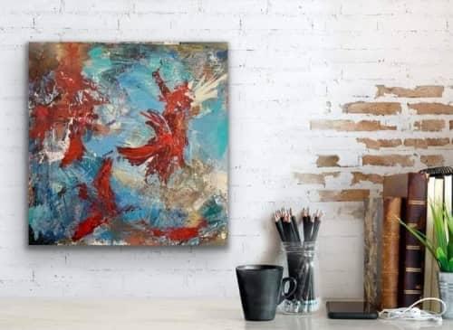 Paintings by Mireille Laroche seen at Creator's Studio, Ottawa - The Flight