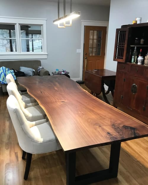 Live Edge  Dining Table   Tables by All Things New