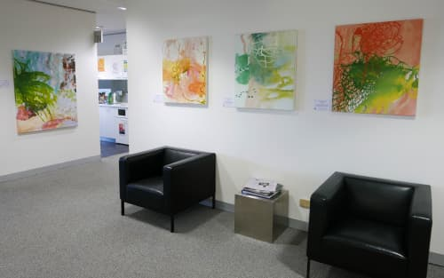 Paintings by Wendy Grace seen at Melbourne, Melbourne - quiet rhythms and out of the woods 3