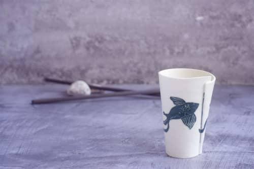 Porcelain Coffee Mug Koi Fish   Cups by ShellyClayspot
