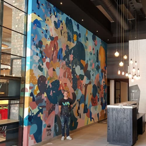 Murals by Paul Senyol seen at WEX1, Cape Town - Commissioned Mural
