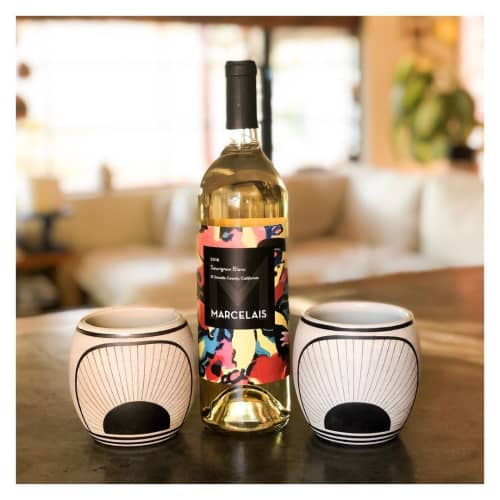 Cups by Amanda Medak Ceramics seen at Private Residence, Los Angeles - Moonrise Wine Glasses