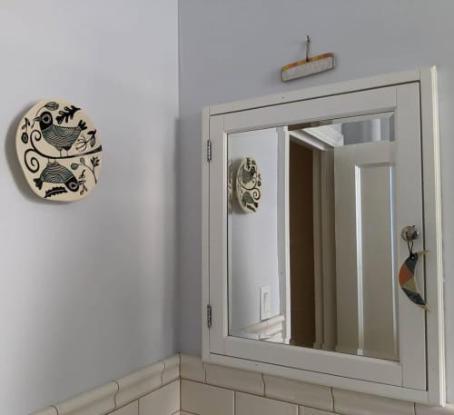 Moon and Comb Wall Hangings | Wall Hangings by Jen Kuroki : jen e ceramics