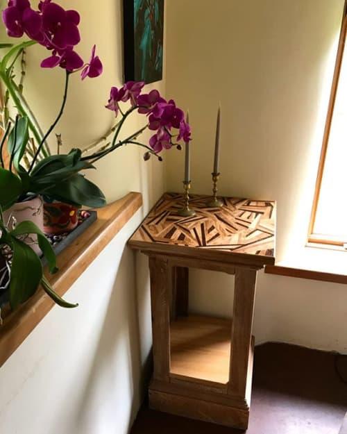 Tables by Chelsea Van Voorhis seen at Private Residence, Appleton - Abstract Wood Veneer Side Table