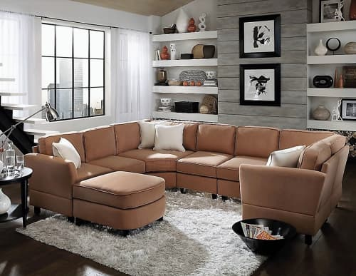 8 pc. modular sectional with Lorelei arm style | Couches & Sofas by Simplicity Sofas - Furniture for Small Spaces & Tight Places