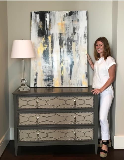 Abstract Painting | Paintings by Lucy Wellborn Art | Loews Atlanta Hotel in Atlanta