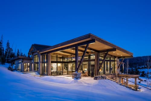 Architecture by Centre Sky Architecture, LTD seen at Private Residence, Big Sky - Mountain Peek