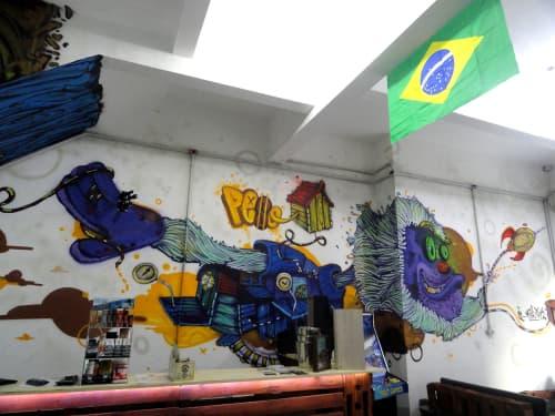 Murals by Léo Araújo seen at Private Residence, Santa Cecilia - P.E.S.O