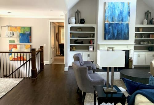 Custom paintings for residence   Paintings by ERIN ASHLEY