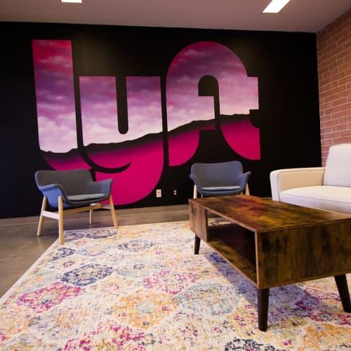 Lyft Mural   Murals by Steven Anderson Art   Lyft Oakland Hub in Oakland