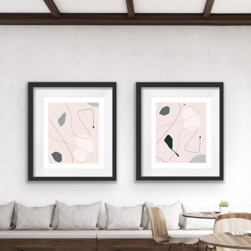 Paintings by By Lauren P seen at Private Residence, Toronto - Geometric Set
