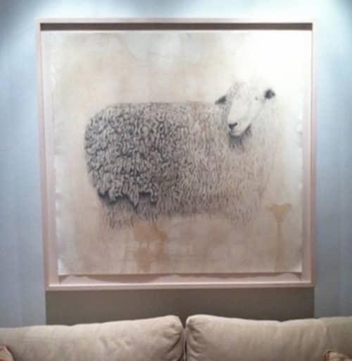 Sheep drawing | Paintings by Meagan Donegan