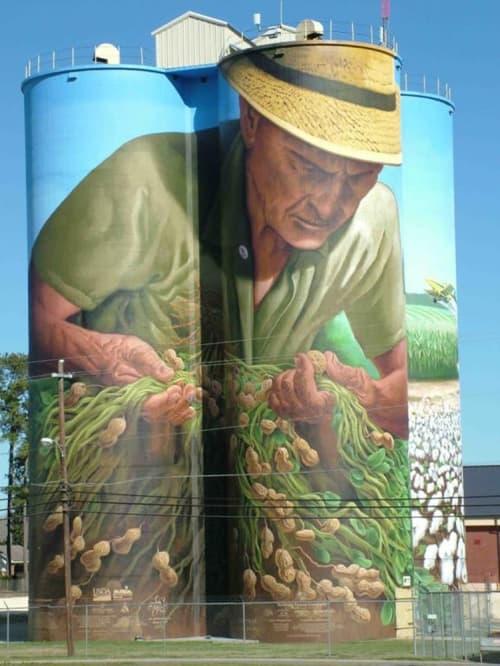 Peanut Farmer mural   Street Murals by C5 Charlie
