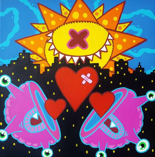 Let Love Rule | Paintings by Ox-Alien