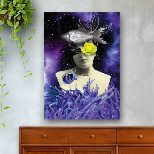Wall Hangings by MELISE FLORES - Surreal Galaxy Collage
