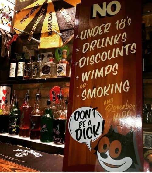 Don't Be A Dick | Signage by Journeyman Signs (TATCH) | The Mousetrap in Edinburgh