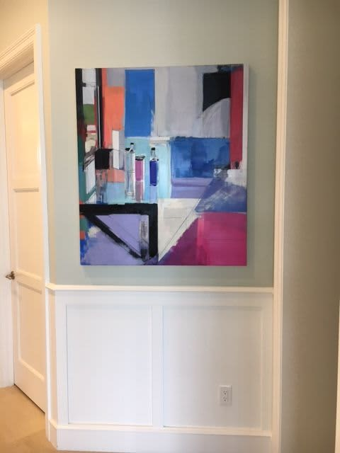 Paintings by Peri Schwartz seen at Private Residence, Delray Beach - Studio XLIII