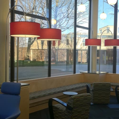 Red Drum Pendants | Lamps by ILEX Architectural Lighting | University of Massachusetts Amherst in Amherst