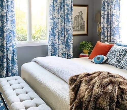 Pillows by Mommani Threads seen at Private Residence, Fairfield - BLUE EYE cotton sateen sculpted pillow /custom made
