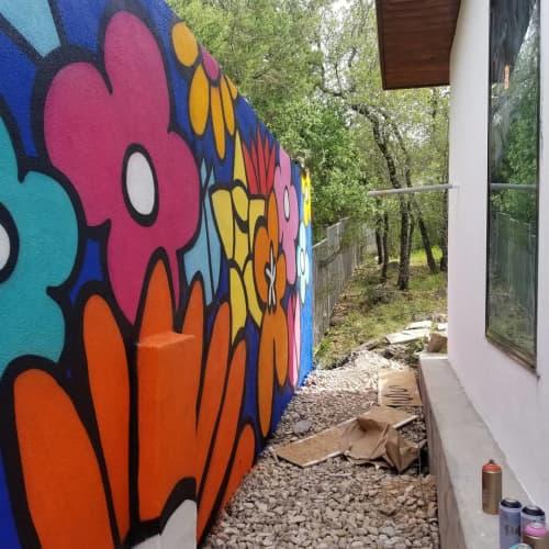Murals by Albert Gonzales seen at Private Residence, San Antonio - Wabi Sabi mural