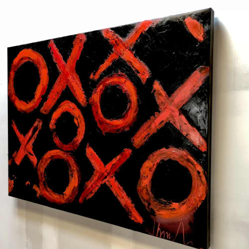 Paintings by james azzarello seen at Private Residence, Beacon - INFINITY...XOXO